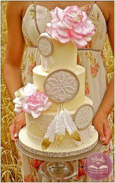 Boho wedding cake                                                       …