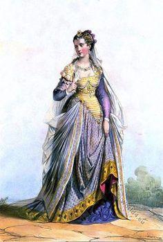 Suit Dame Romaine. Renaissance style. 16th century fashion.