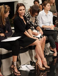 Victoria Beckham makes an appearance at her Spring 2011 collection, in New York, Sept 2010... http://dailym.ai/P7qkX7#i-ab0a0e82