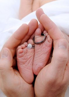 wedding rings on baby feet :) For Kids https://www.amazon.com/Painting-Educational-Learning-Children-Toddlers/dp/B075C1MC5T
