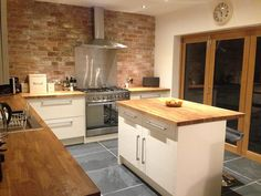 Customer Kitchen Wooden Worktop Gallery Express Oak Wood Worktops Floor