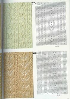 "Photo from album ""Узоры спицами on Yandex. Knitted Dishcloth Patterns Free, Lace Knitting Stitches, Knit Dishcloth, Knitting Books, Knitting Charts, Easy Knitting, Knit Patterns, Stitch Patterns, Purse Storage"