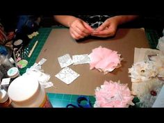Shabby Chic Lace Flowers - YouTube