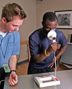 Spirometry test for US firefighter with Pony FX desktop spirometer Utila, Thermal Printer, My Town, Lunges, Firefighter, Pony, Desktop, Firemen, Safety