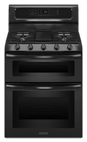 Shop for Maytag Gemini Series Freestanding Double-Oven Gas Range with Convection. Get in rewards with Club O! Laundry Appliances, Black Appliances, Oven Cleaning, Oven Range, Wall Oven, Cooking, Gemini, Stoves, Kochen