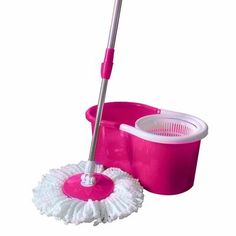 Valuebox Spin Bucket System Mop with Extended Length Handle 2 Microfiber Mop Heads Easy Floor Mop (Pink) Cool Kitchen Gadgets, Cool Kitchens, Pink Kitchens, Kitchen Container Set, Microfiber Mop Heads, Pink Kitchen Decor, Spin Mop, House Essentials, Everything Pink
