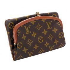 Louis Vuitton Vintage Monogram Canvas Folding Kisslock Clutch Bag