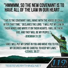 New Covenant, Torah in our hearts. Messianic ~ permanent salvation as a gift through the blood of the one and only Perfect Lamb ~ Gods Son. No more animal sacrifice. Jesus paid the price once and for all. Bible Scriptures, Bible Quotes, Bible Book, 119 Ministries, Messianic Judaism, Encouragement, Old And New Testament, Bible Knowledge, Thing 1