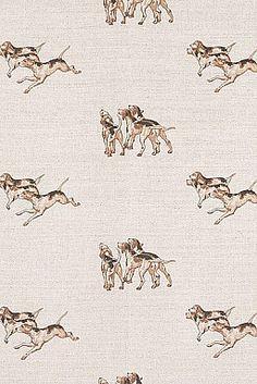 Hounds Fabric Emily bond. Boys bedroom curtains
