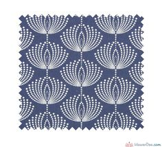 Long Island 100% Cotton Fabric - Stipple Flower Print / Blue