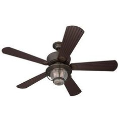 Harbor Breeze Merrimack Antique Bronze Outdoor Downrod or Flush Mount Ceiling Fan with Light Kit and Remote Control. This will look wonderful on the porch Low Ceiling Fans, Ceiling Fan With Remote, Outdoor Ceiling Fans, Outdoor Lighting, Lighting Ideas, Outdoor Fans, Hunter Douglas, Patio Fan, Flush Mount Ceiling Fan