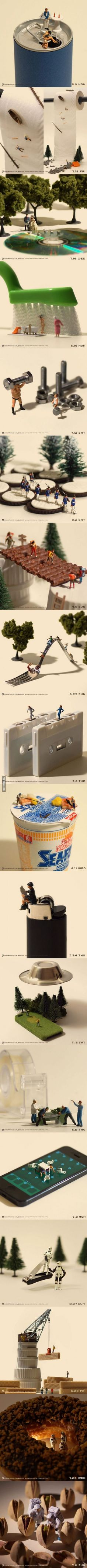 Tanaka Tatsuya combined little people and everyday objects to create an art like never seen before.