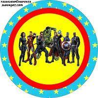 """Imprimés Thème """"DC Comics"""" : http://fazendoanossafesta.com.br/2012/07/os-vingadores-kit-completo-com-molduras-para-convites-rotulos-para-guloseimas-lembrancinhas-e-imagens.html/"""