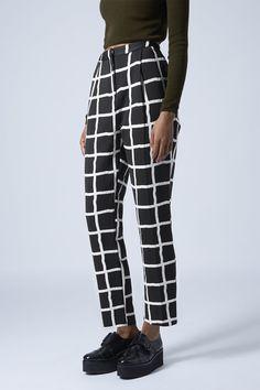 Photo 2 of Window Pane Peg Leg Trousers