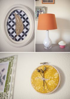 boho nursery... love the embroidery hoop with the thistles