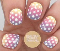 Gradient Polka Dots - One Nail To Rule Them All
