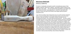 Marianne McGrath. Tool Process Shot: Handmade scoring tool