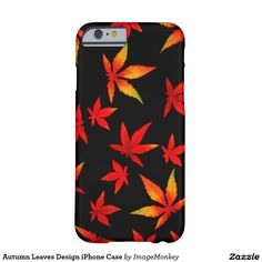 Autumn Leaves Design iPhone Case Barely There iPhone 6 Case