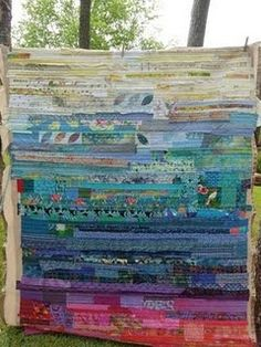 Incredible strip quilt…..