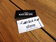 Coffee loyalty card of Café Black and Wine in Vrchlabí. Collect eight stamps and get next coffee for free.