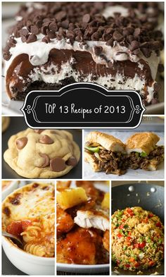 Top 13 recipes of 2013 collage 2