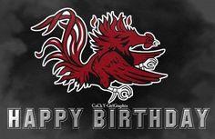 Happy Birthday - Go Gamecocks! Birthday Greetings, Birthday Wishes, Birthday Gifts, Happy Birthday, Gamecock Nation, Gamecocks Football, South Carolina Gamecocks, Birthday Pictures, Birthday Quotes