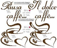 Risultati immagini per schemi punto croce chicchi di caffè