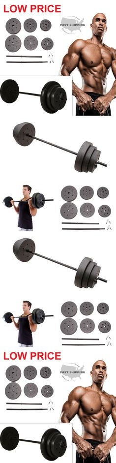 Weight Sets 179818: Barbell Vinyl Weight Set 100Lb Home Gym Equipment Fitness Adjustable Bar Lifting -> BUY IT NOW ONLY: $49.98 on eBay!