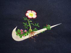 Le jeune homme nous fait rêver avec ses créations végétales autour des logos de ses marques de sport préférées. Une véritable source d'inspiration.