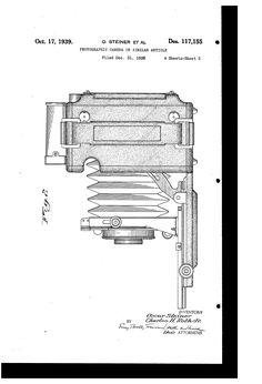 PHOTOGRAPHIC CAMERA OR SIMILAR ARTICLE, 1938