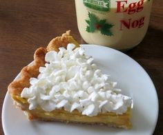 This eggnog cream pie is a perfect dessert to end any holiday meal. I've had people who didn't care much for eggnog going back for a second slice of this rich, creamy, flavorful cream pie.