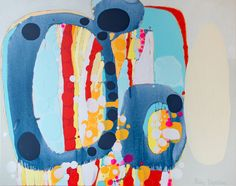 """""""26 Minutes"""" by Claire Desjardins. 60""""x48"""" - Acrylics on canvas."""