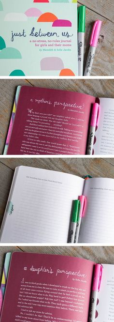 Just Between Us: Using a Mother-Daughter Journal To Talk With Your Tween *We are absolutely loving these journal prompts