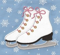 Ice Skates Applique - 3 Sizes! | Winter | Machine Embroidery Designs | SWAKembroidery.com Applique for Kids
