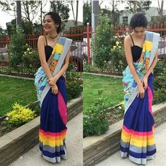 Linen Wardrobe- Shop Mithila Palkar Linen Saree at Trendwati. Sarees in different designs at ❥Best Price ❥Free Delivery/COD ❥Easy Return Indian Attire, Indian Wear, Indian Dresses, Indian Outfits, Mithila Palkar, Saree Poses, Saree Trends, Stylish Sarees, Saree Look