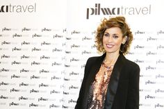 La actriz española Lola Marceli durante la inauguración de Pilma Travel en Calle Serrano, 4 de Madrid.