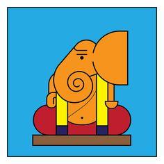 66 Trendy creative art for children canvases Ganpati Drawing, Ganesha Drawing, Lord Ganesha Paintings, Ganesha Art, Krishna Art, Ganesh Rangoli, Madhubani Paintings Peacock, Madhubani Art, Indian Art Paintings