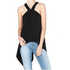 Sass and Bide Tortured Love Black Relaxed Fit Sleeveless Top