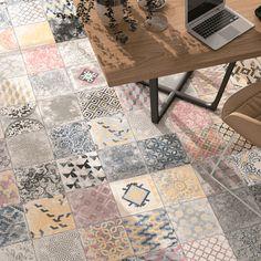 Perseo Marockanskt Klinker Mix 25×25 cm Garden Room Extensions, Bathroom Inspiration, Decoration, Tile Floor, Kitchen Design, Tiles, Flooring, Retro, Wood
