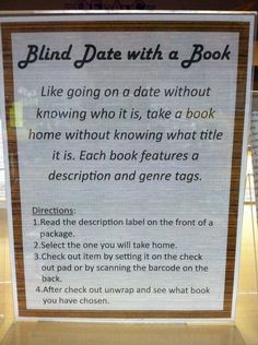 Another Blind Date with a Book display