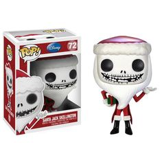 POP Disney: The Nightmare Before Christmas - Santa Jack Skellington gets the Funko Pop! Figure stands 3 inches and comes in a window display box. Check out the other POP figures from Funko! Collect them all. Disney Pop, Jack Disney, Jack Skellington, Pop Vinyl Figures, Vinyl Toys, Funko Pop Vinyl, Tim Burton, The Nightmare Before Christmas, Suicide Squad
