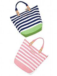 Graphic Flip-flops - VS Collection - Victoria's Secret. Cute beach bags, would love to get one for myself!