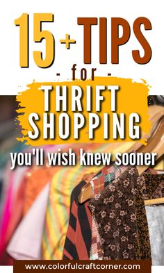 Do you like thrift shopping, but you usually go home empty handed? With these actionable tips you can become more successful while strolling through your favorite second hand store, looking for clothes to upcycle or refashion. #thriftstoreshopping #thrifting #clothesupcycle #refashioning Thrift Store Shopping, Shopping Hacks, Dawn Dishwashing Liquid, Clothes Refashion, Second Hand Stores, Refashioning, Color Crafts, Craft Corner, Shop Plans