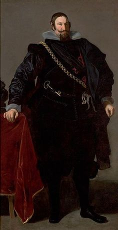 1624.A relatively youthful Olivares,3 years into his time in power,by Diego Velázquez.Don Gaspar de Guzmán y Pimentel Ribera y Velasco de Tovar, Count of Olivares and Duke of San Lúcar la Mayor,Grandee of Spain (also known as Conde de Olivares y duque de Sanlúcar la Mayor,Grande de España) (6.01.1587-22.07.1645)was a Spanish royal favourite of Philip IV and minister.