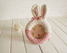 Cute photo frame with rabbit ears
