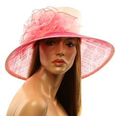 Amazon.com: Fancy Kentucky Derby Floppy Bucket Floral Beads Ribbon Church Hat Fuchsia & Pink: Clothing