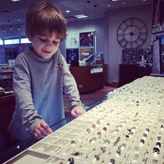 Amos is picking out a very special @officialpandora charm for his great-grandmother's 80th birthday!