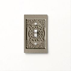 Shop Carved Stone Celtic Knots Light Switch Cover created by BlueRose_Design. Wood Tile Floors, Celtic Patterns, Celtic Knots, Stone Texture, Custom Lighting, Light Switch Covers, Stone Carving, Photo Displays, Plates On Wall