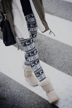nordic leggings winter <3