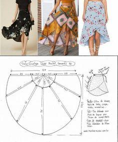 ♥ Deniz ♥ by amparo , , Pattern fashion skirt.♥ Deniz ♥ by amparo joyce Pattern fashion skirt.♥ Deniz ♥ by amparo. Fashion Sewing, Diy Fashion, Ideias Fashion, Fashion Outfits, How To Make Skirt, How To Make Clothes, Skirt Patterns Sewing, Clothing Patterns, Pattern Skirt